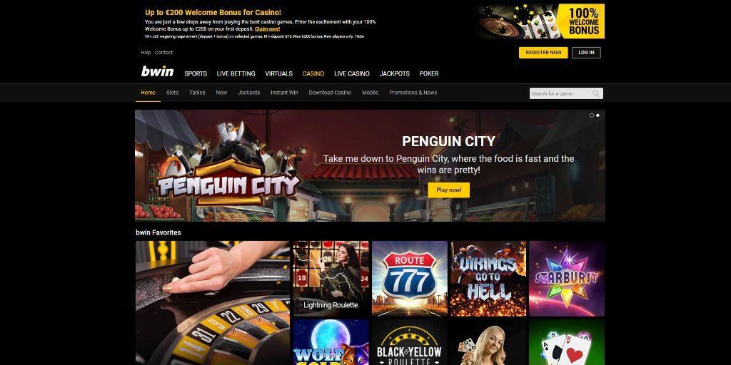 Bwin casino landing pagina