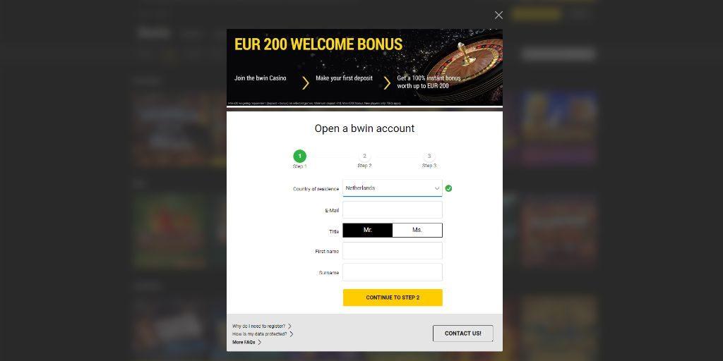 Bwin casino registratiepagina