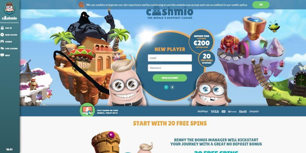 Cashmio landing pagina