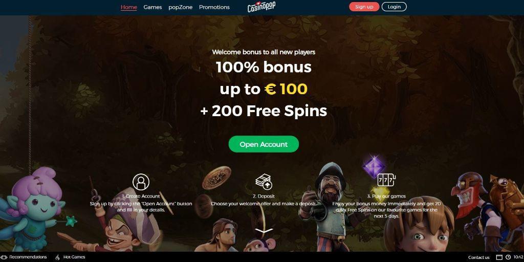 CasinoPop landing pagina