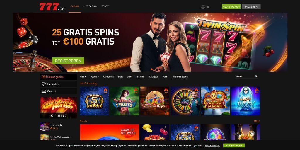 Casino 777 landing pagina