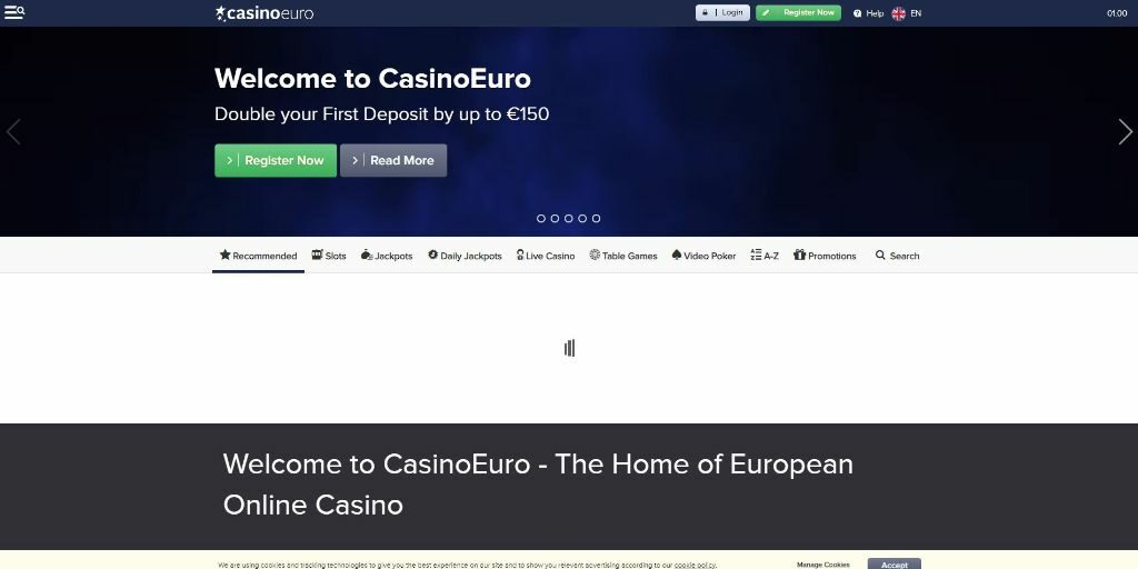 CasinoEuro landing pagina