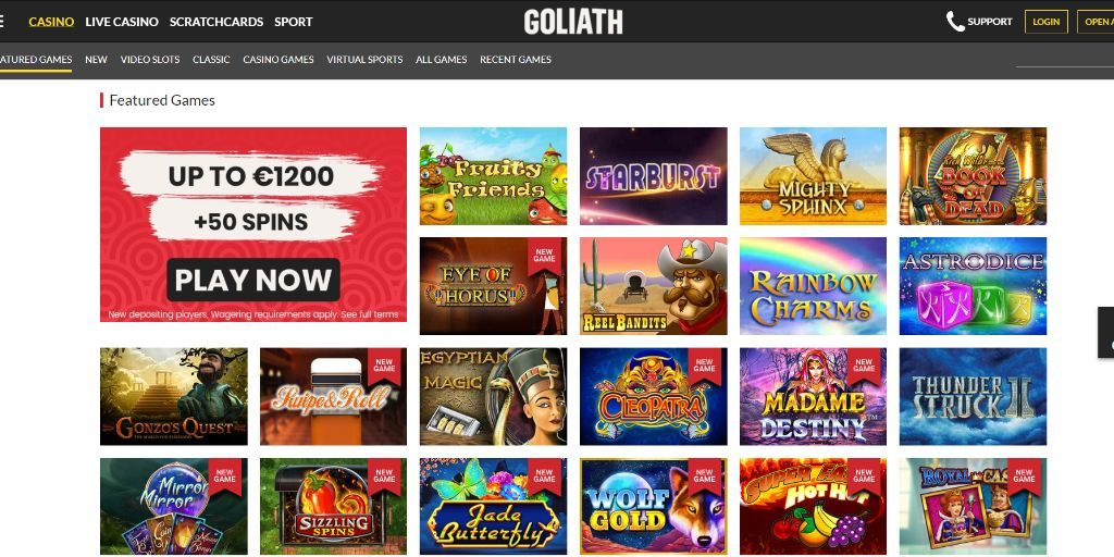 Goliath casino lobby