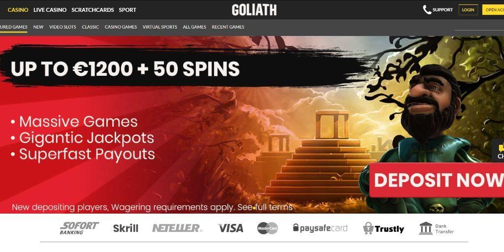 Goliath landing pagina