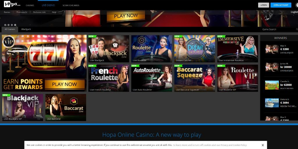Hopa live casino