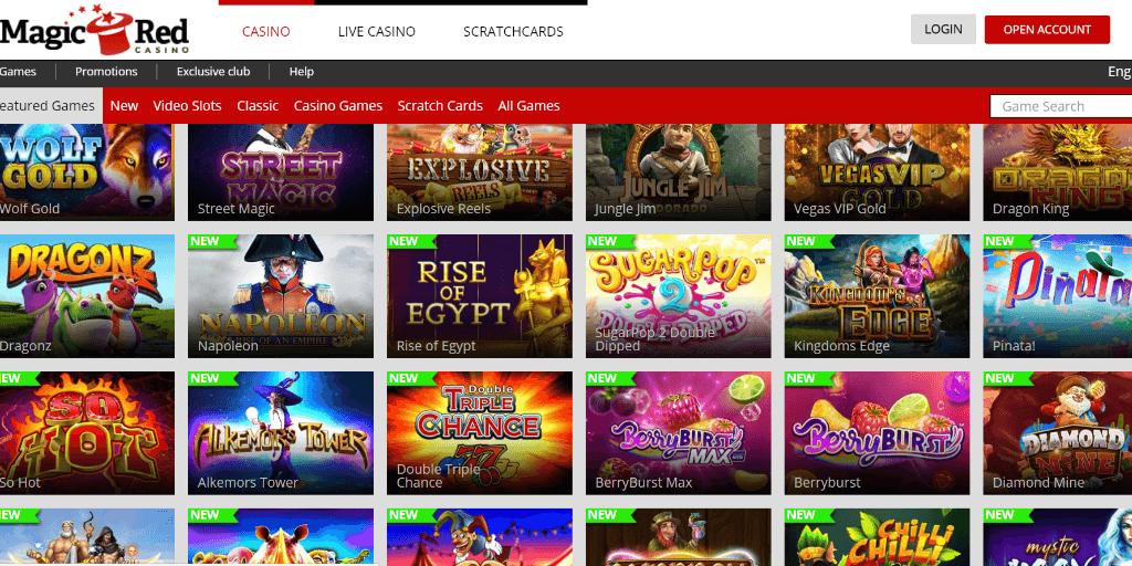 Magic Red casino lobby