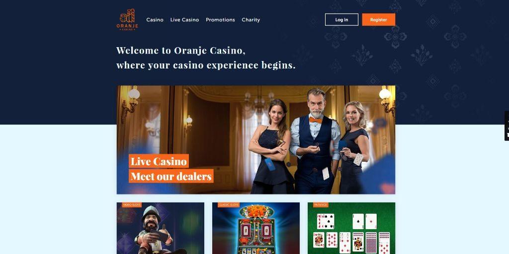 Oranje casino welkom pagina