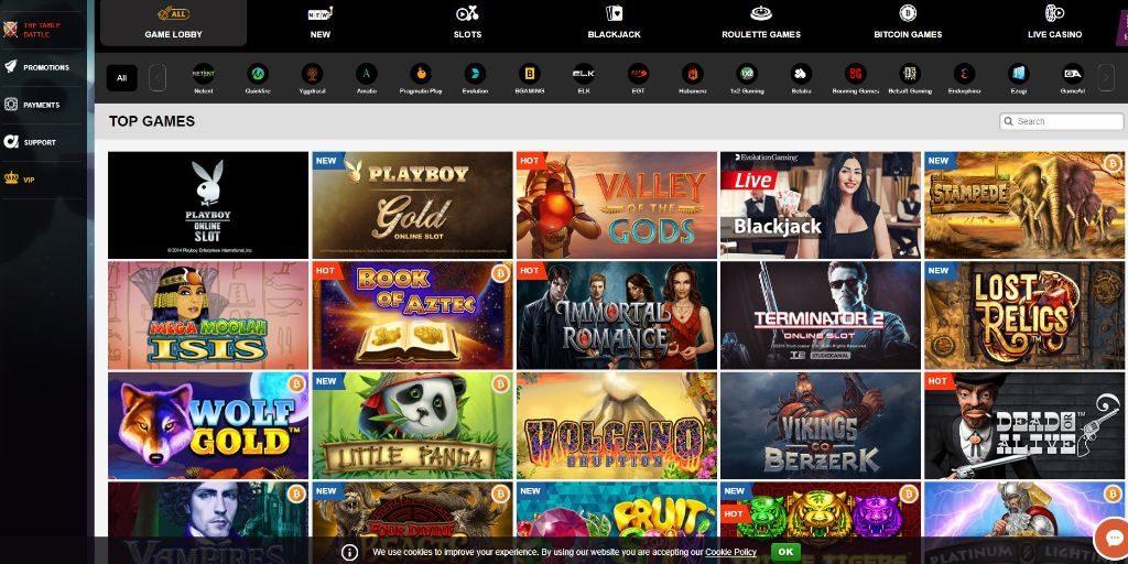 PlayAmo casino lobby